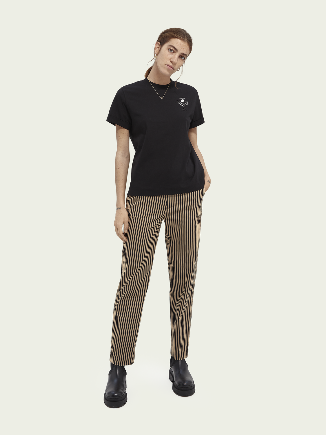 Women Abott patterned regular fit chino
