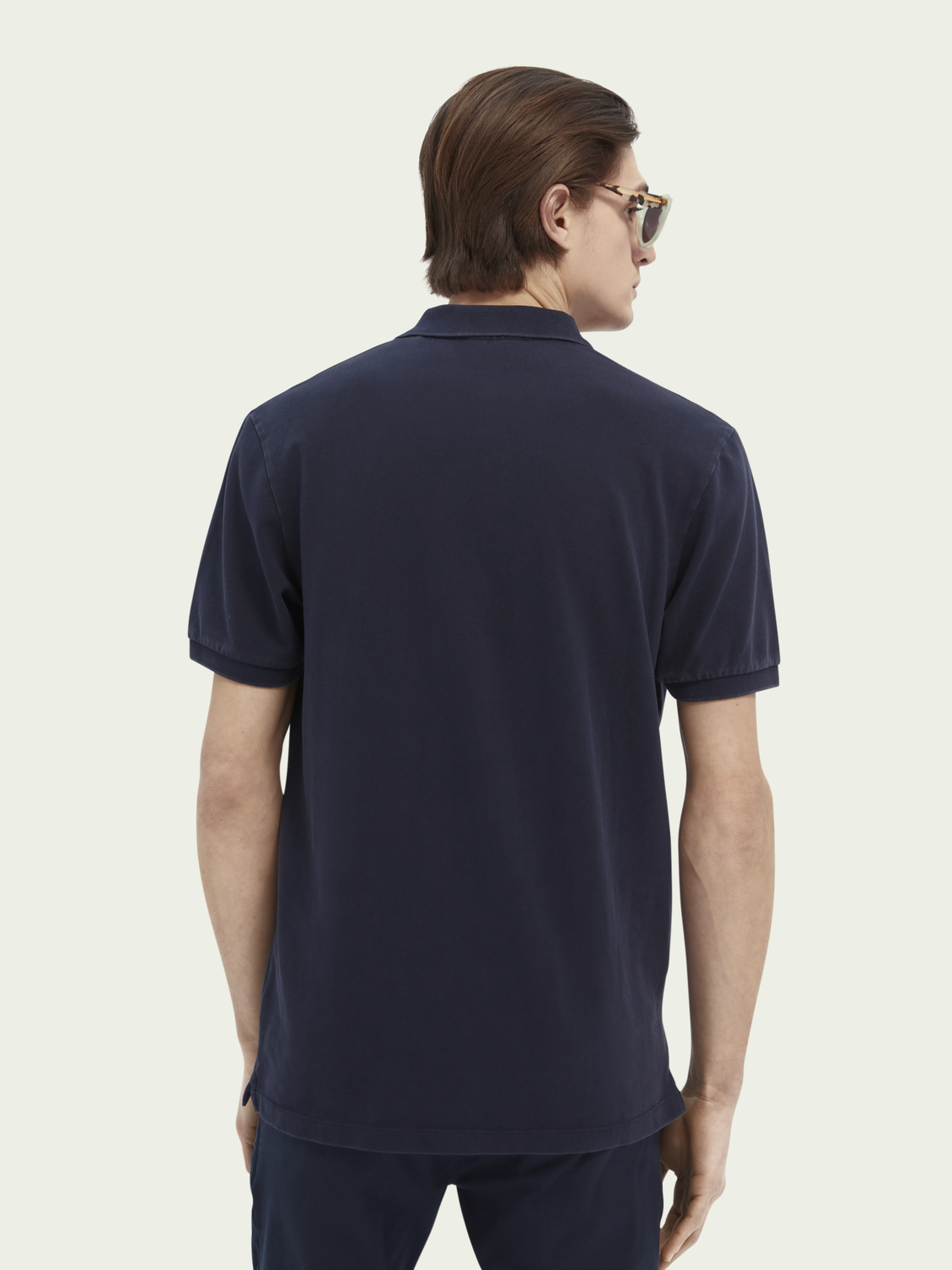 Men Garment-dyed organic cotton-blend polo