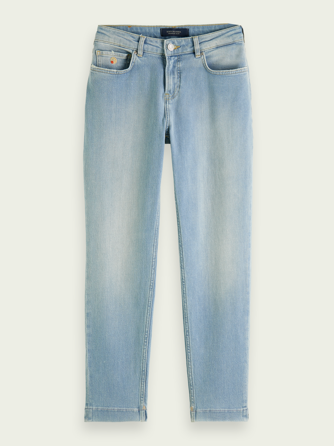 Women The Keeper mid-rise slim-leg cropped jeans - Fresh Light