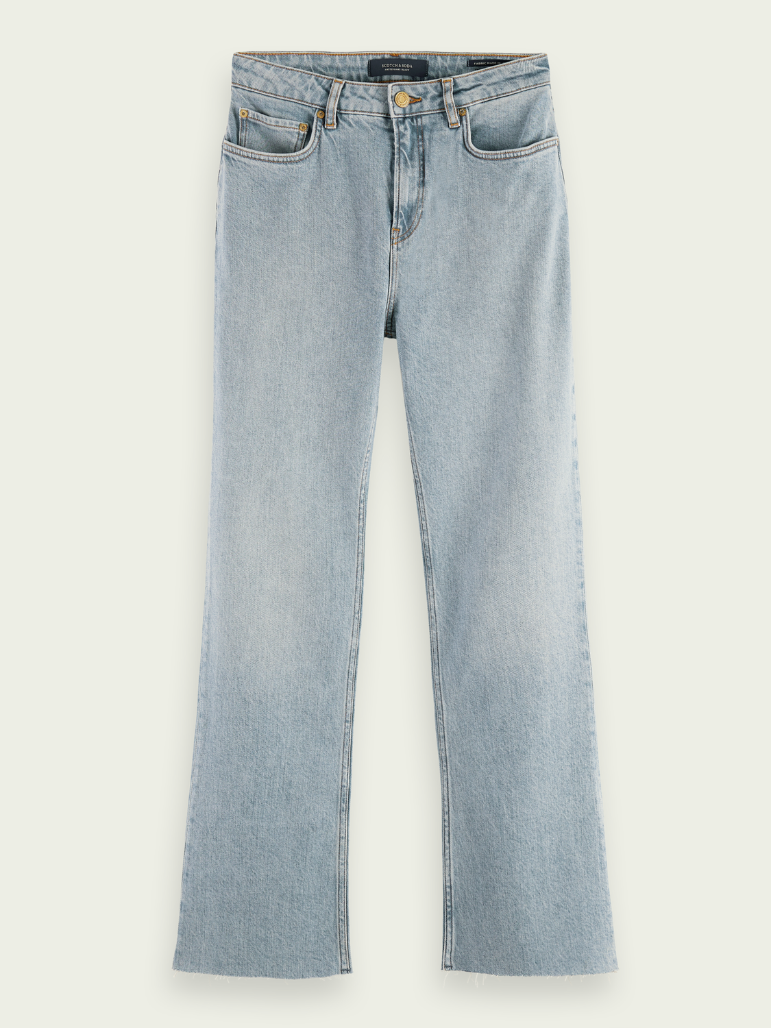 Women High-rise cropped flare denim trousers