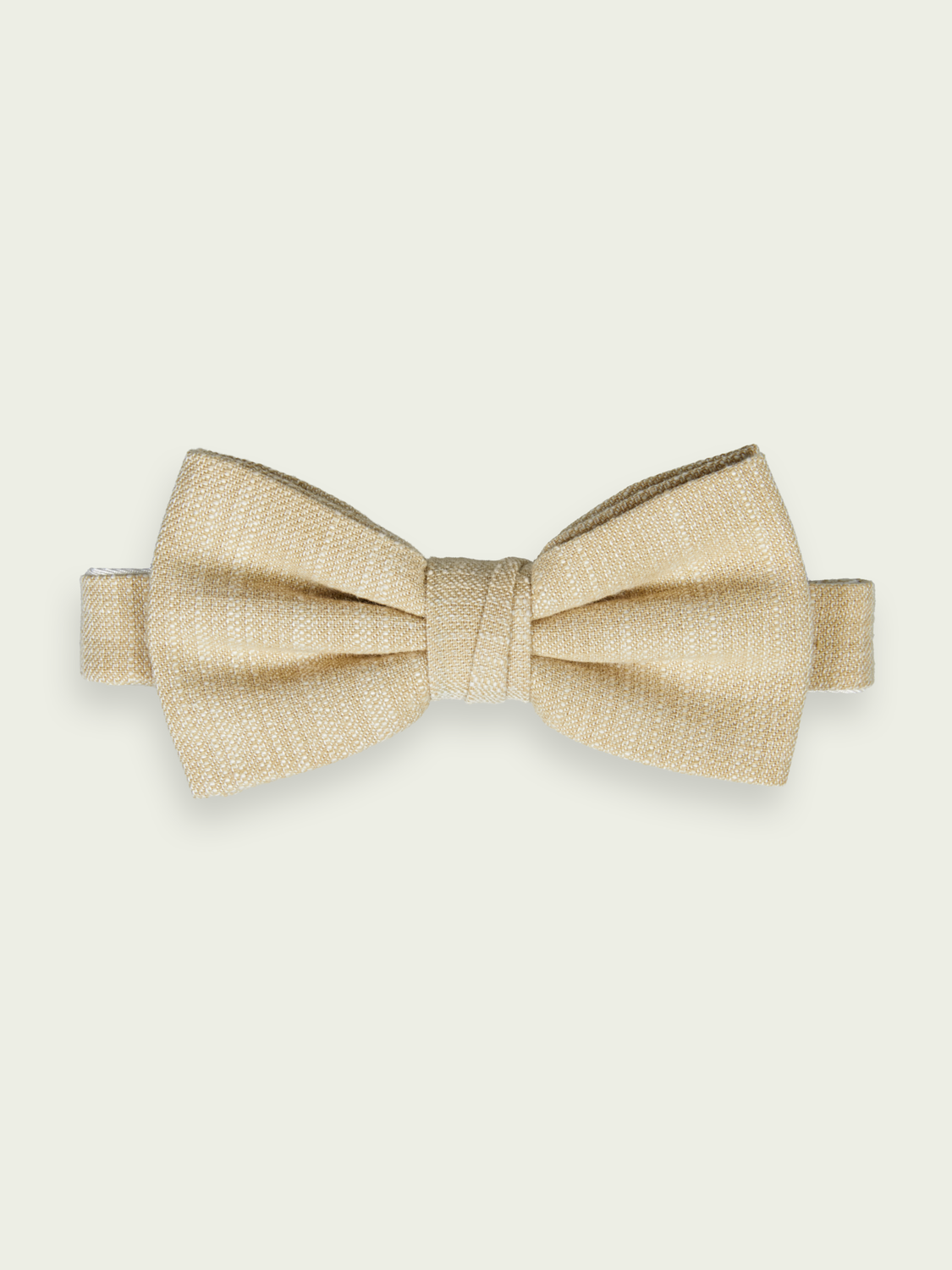 Men Cotton-linen blend bow-tie
