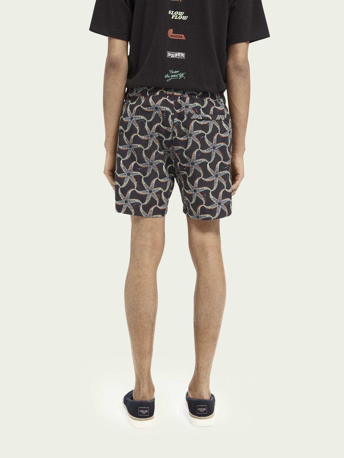 Men Printed recycled nylon swim shorts