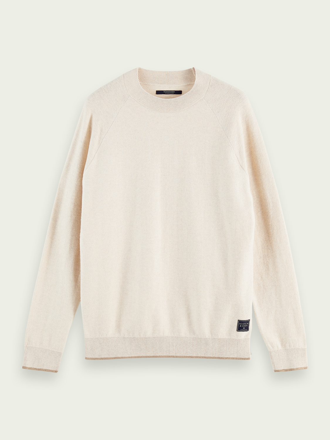 Men High-neck cotton and wool-blend sweater