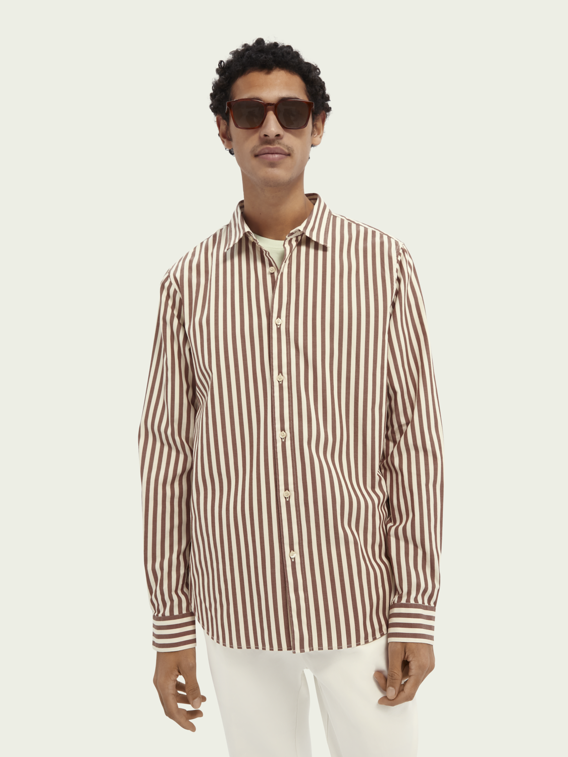 Men Striped regular-fit cotton shirt