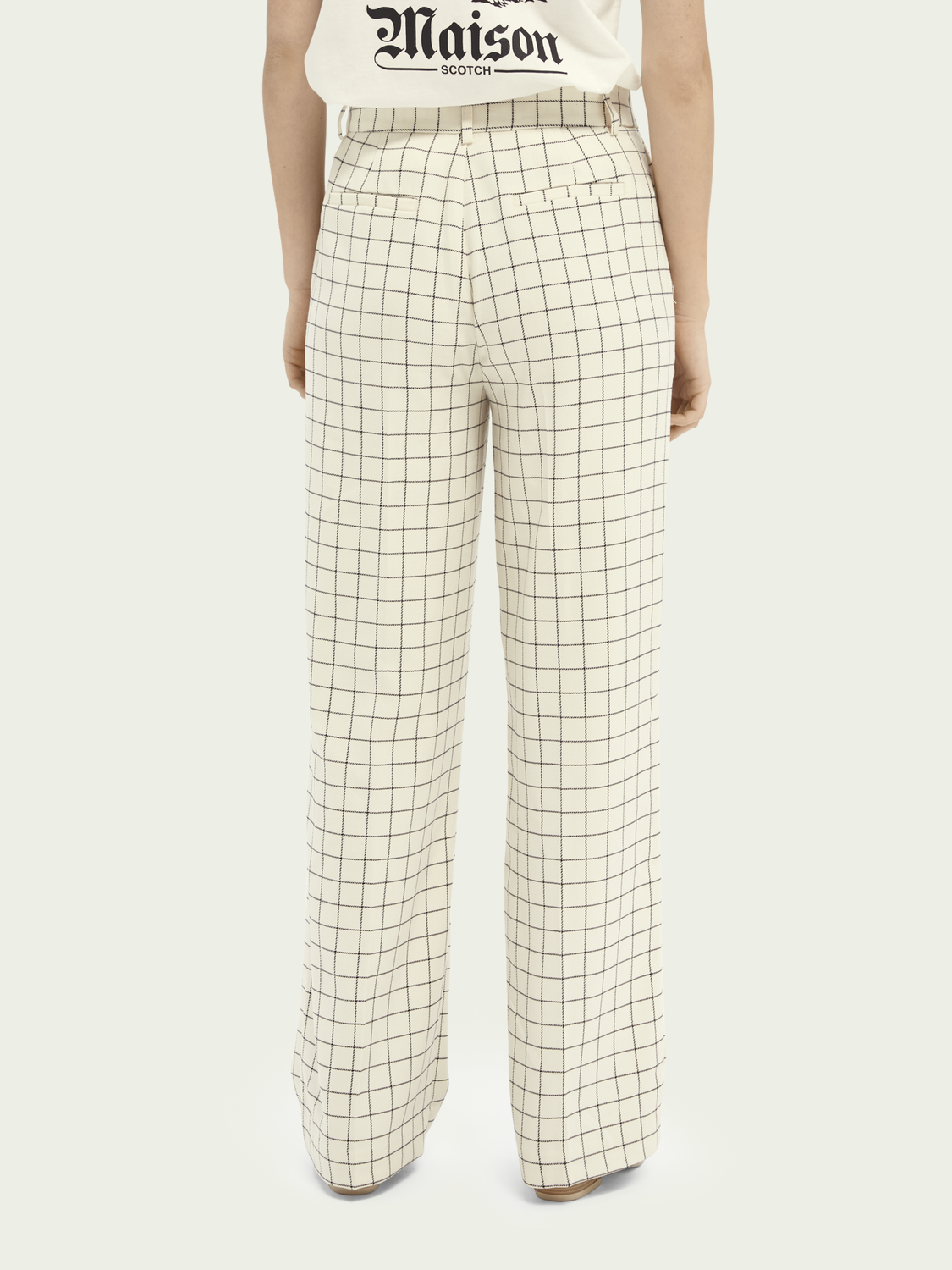 Women Edie high-rise wide-leg checked trousers