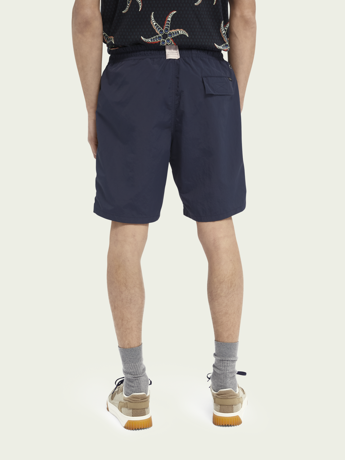 Men Long length recycled nylon swim shorts