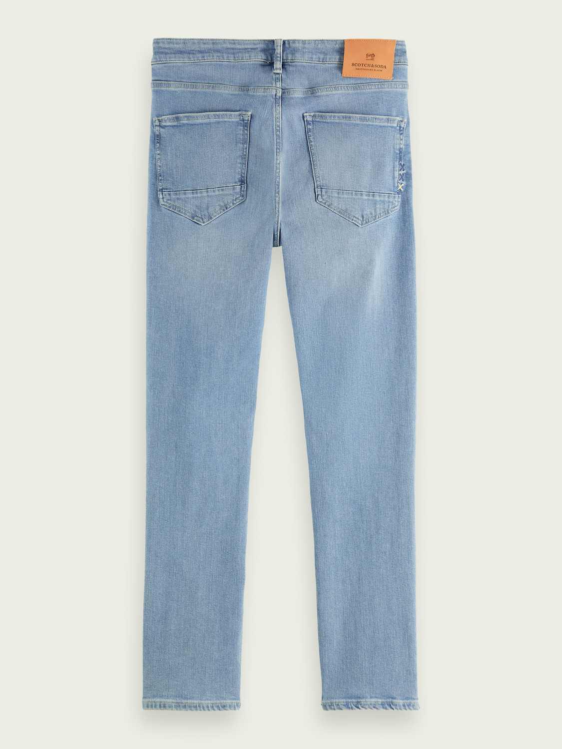 Men Skim super-slim-fit jeans with recycled cotton - Blauw Trace