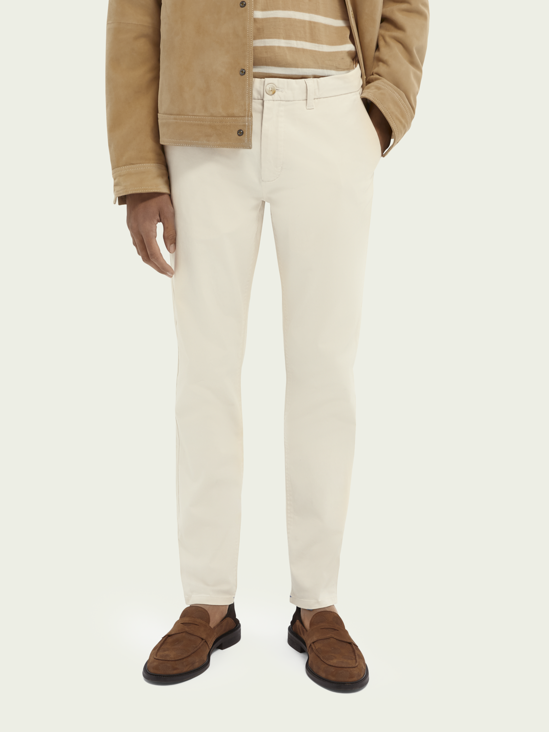 Herren Mott Super Slim Fit Twill Chino