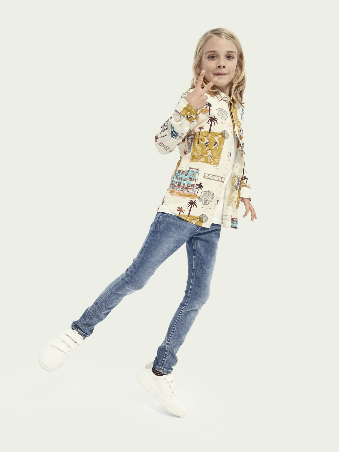Kinder Tack Super Skinny Tapered Fit Jeans mit recycelter Baumwolle– Into The Light