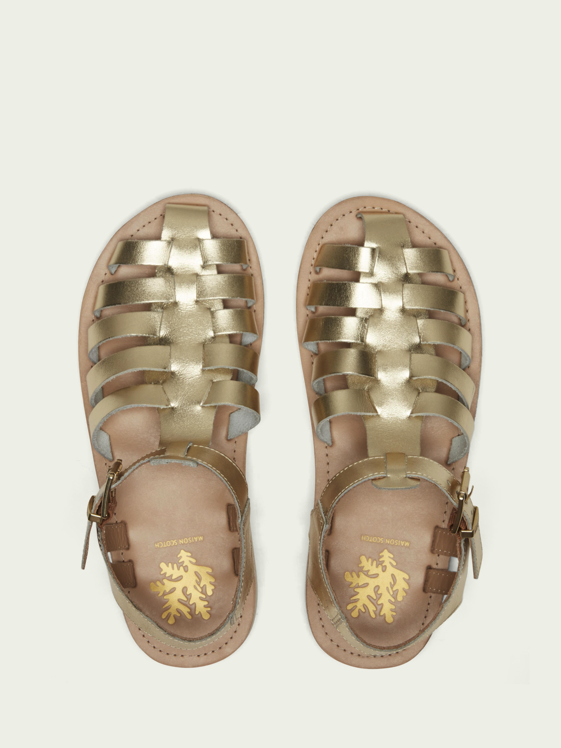 Women Frances golden sandals