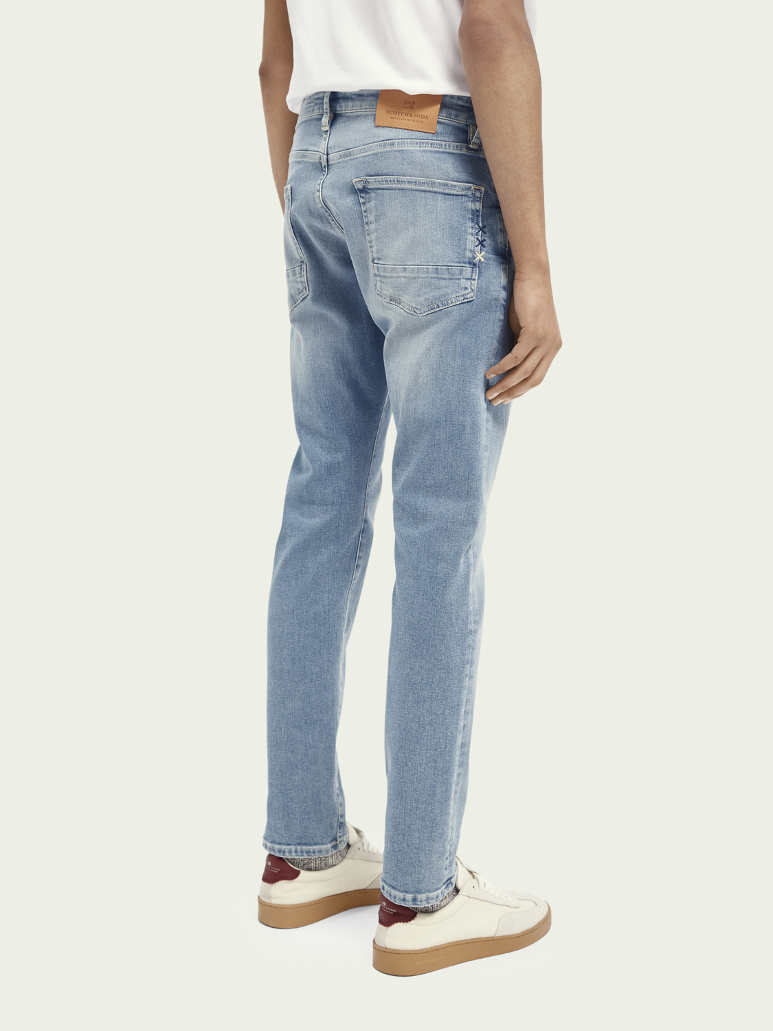 Men Ralston regular slim-fit jeans with recycled cotton - Blauw Trace