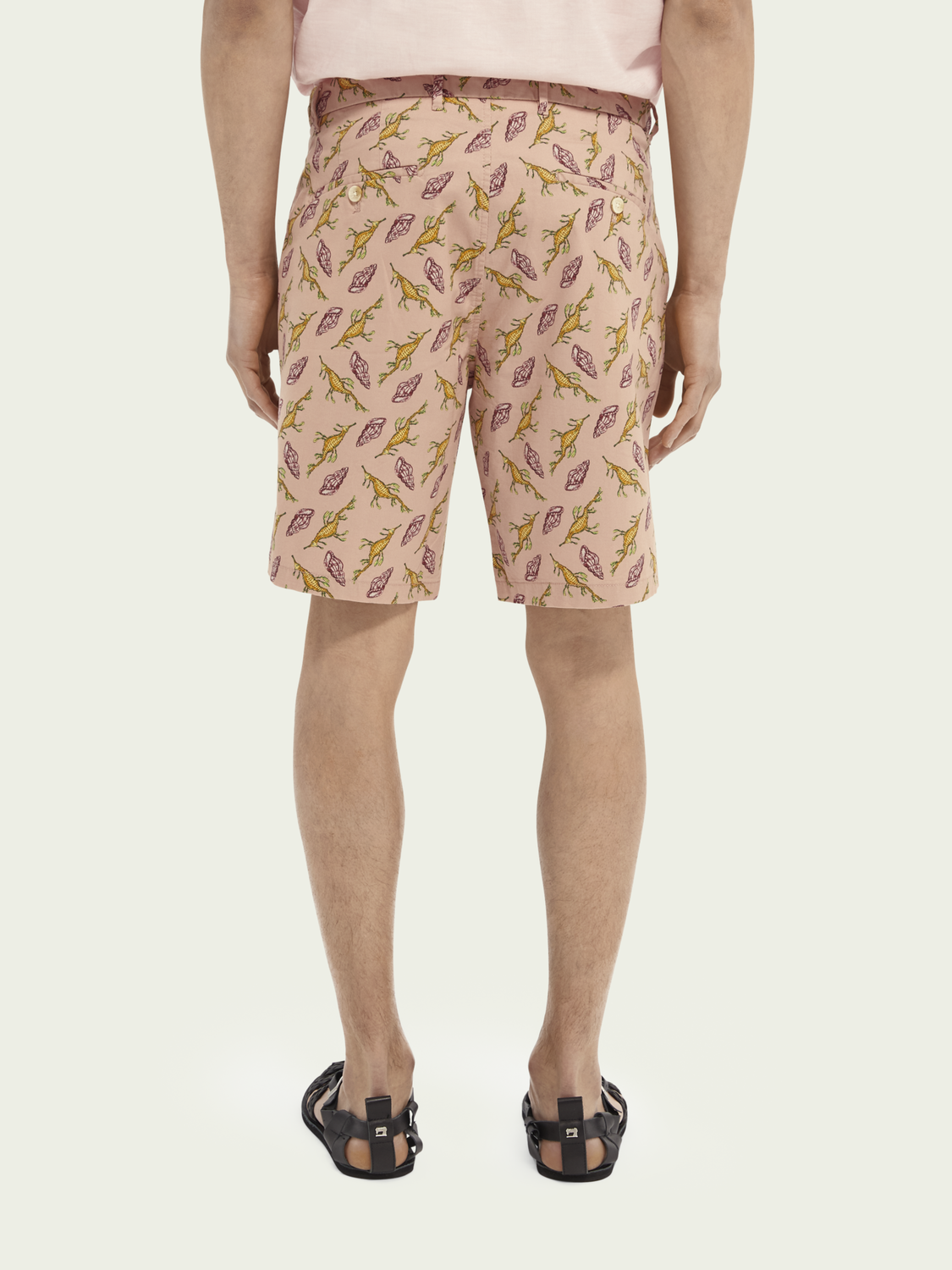 Men Stuart printed Pima cotton chino short