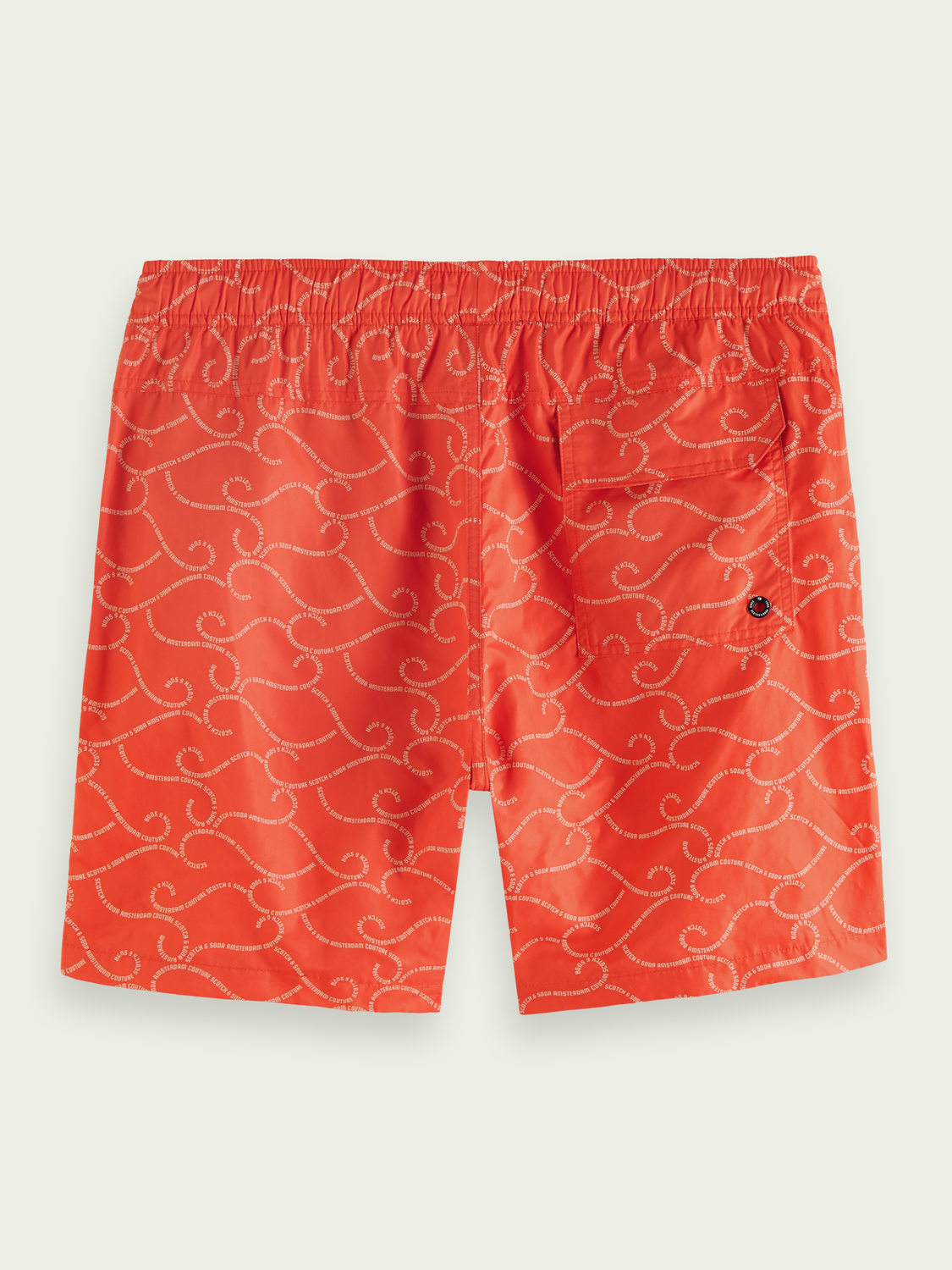 Men Mid-length recycled polyester swim short