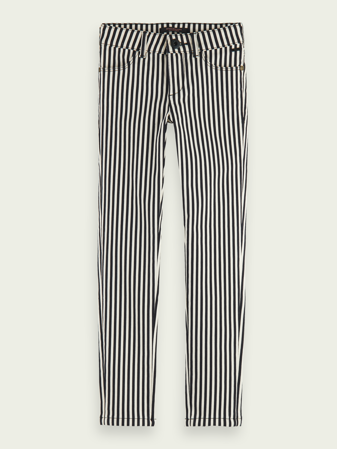 Kids Printed skinny fit organic cotton trousers