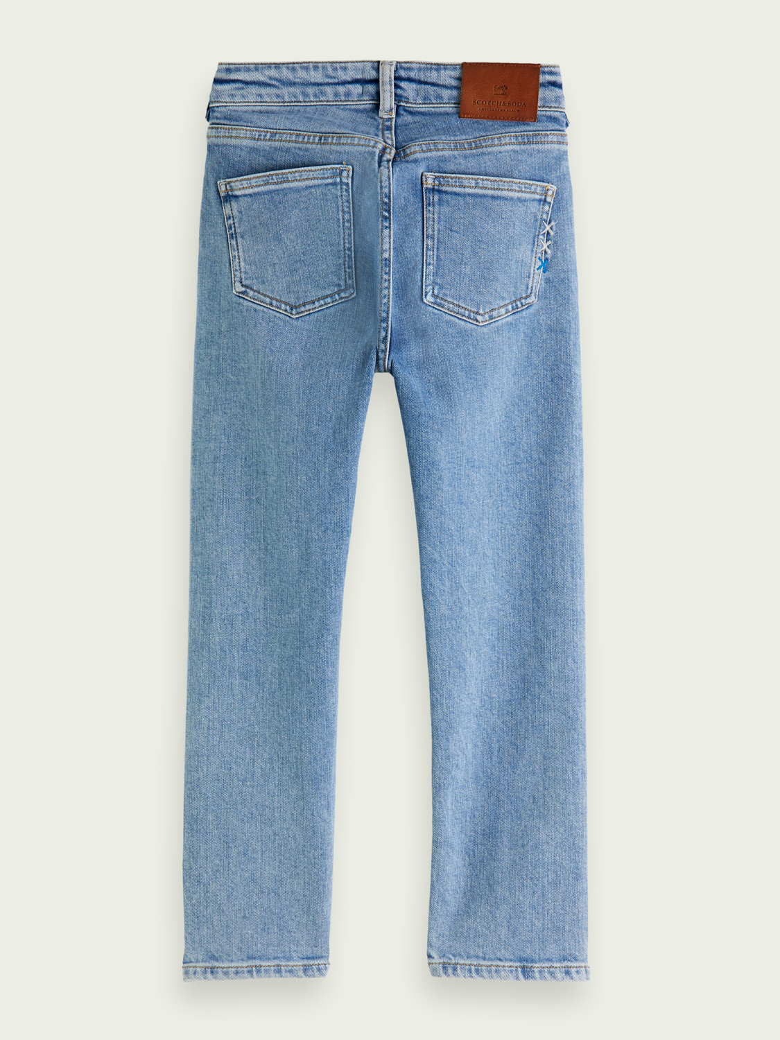 Kids Dean loose tapered jean ─ Crystal Clear