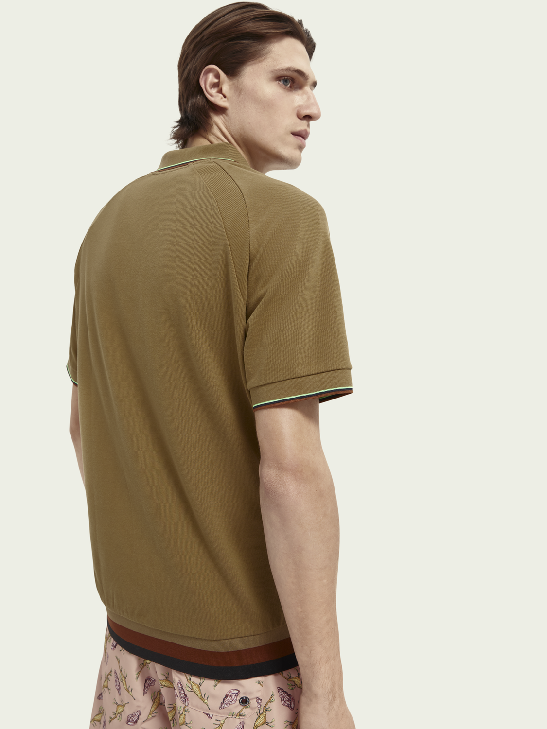 Men Structured cotton pique polo