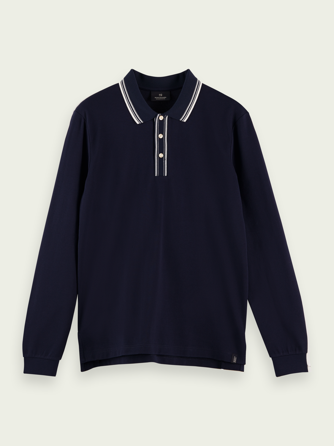 Men Piped organic cotton piqué polo shirt