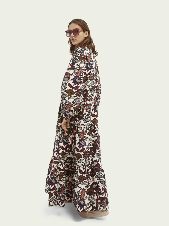 Damen Voluminöses Kleid mit Print aus Bio-Baumwolle