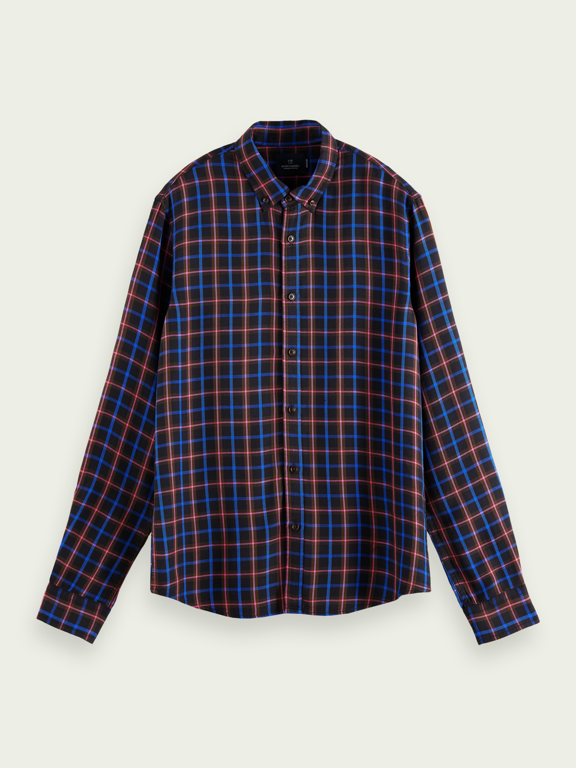 Men LENZING™ ECOVERO™ regular-fit checked shirt