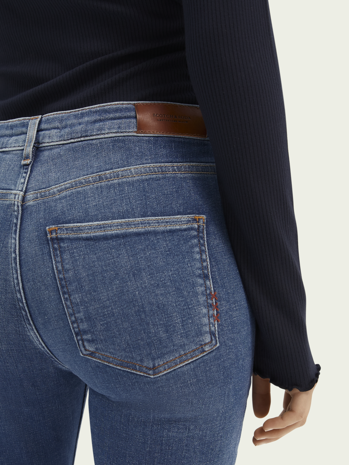Dames Haut versleten superstretch jeans - Time After Time