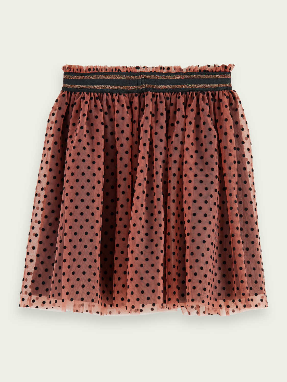 Kids Polka dot tulle midi skirt
