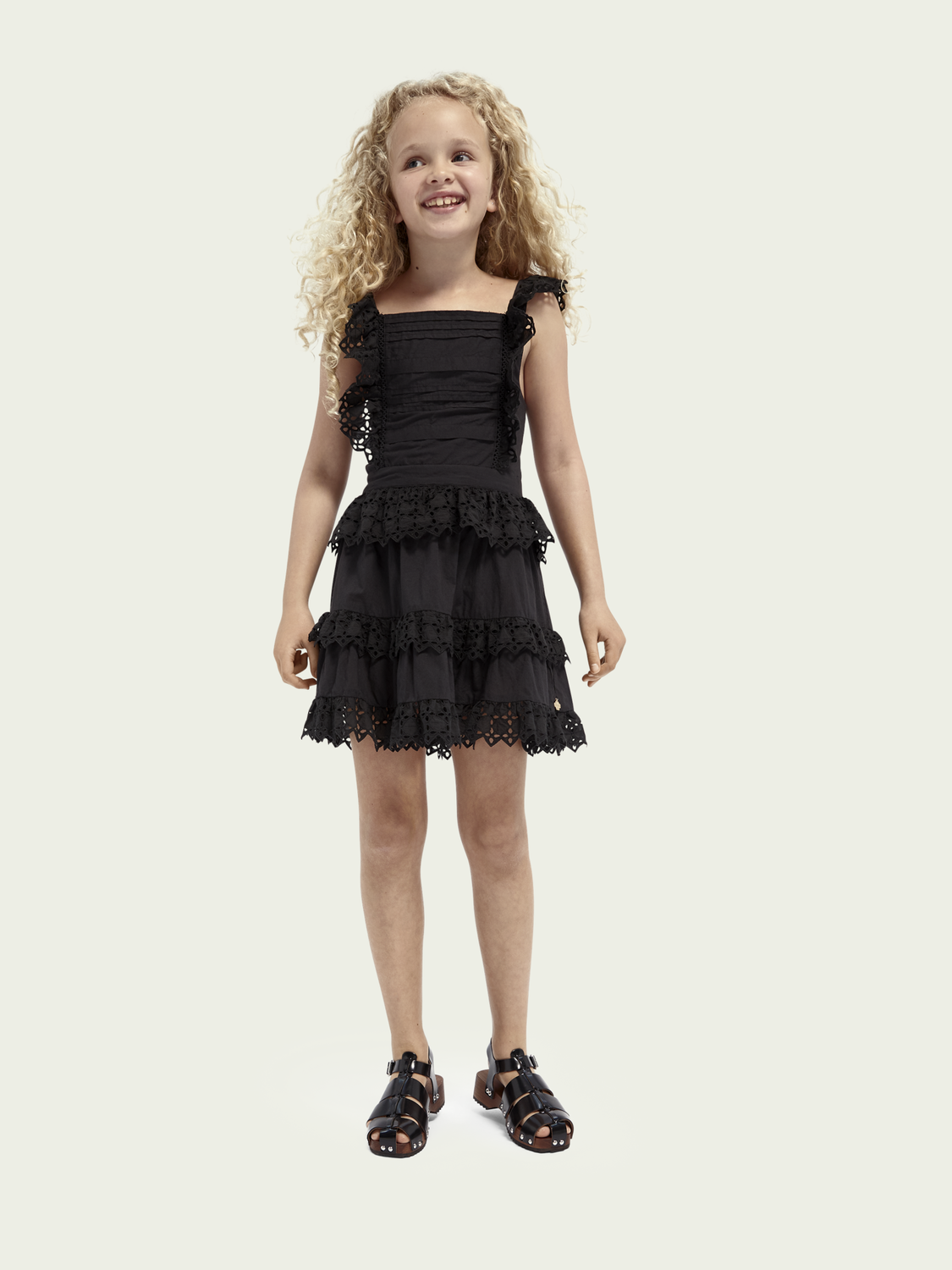 Kids Broderie anglaise organic cotton dress