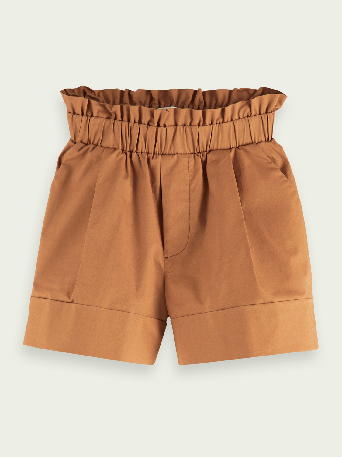 Kids Wide-fit cotton-blend paper-bag shorts