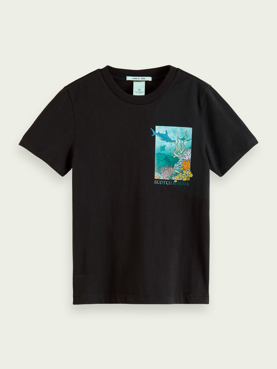 Kids Ocean-graphic organic cotton T-shirt