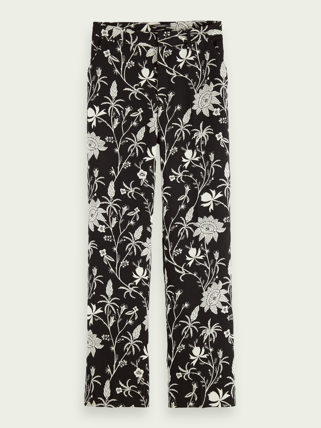 Women Wide-leg printed trousers