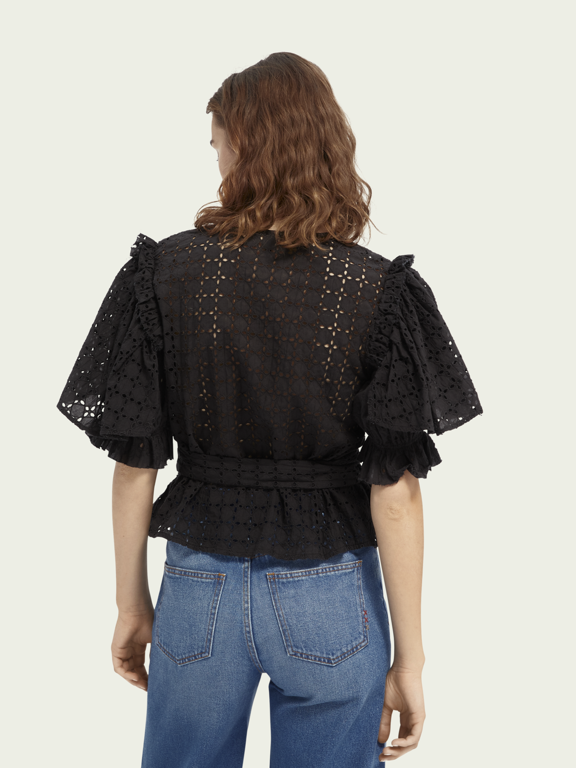 Women Broderie Anglaise top