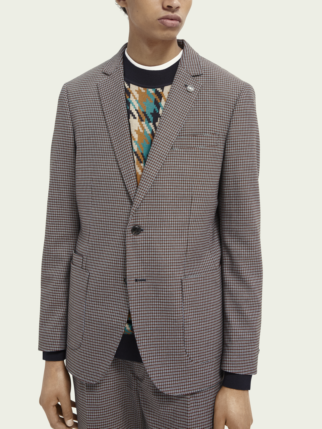 Men Single-breasted structured blazer