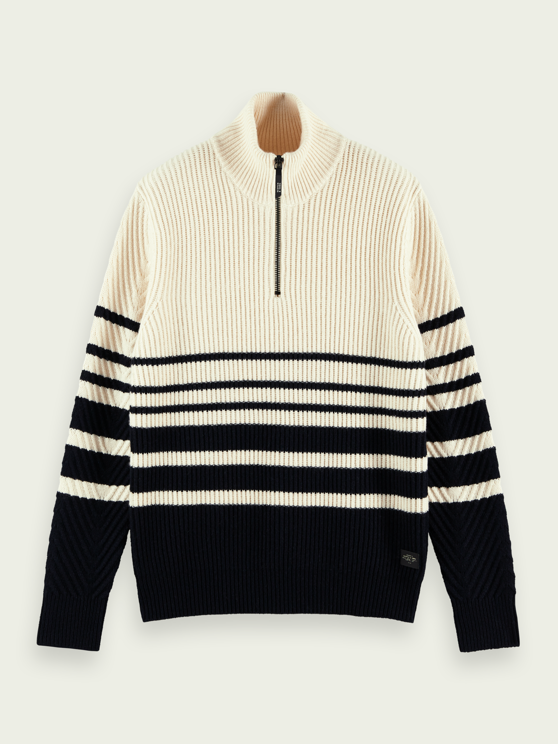 Men Chunky knit half-zip wool-blend jumper