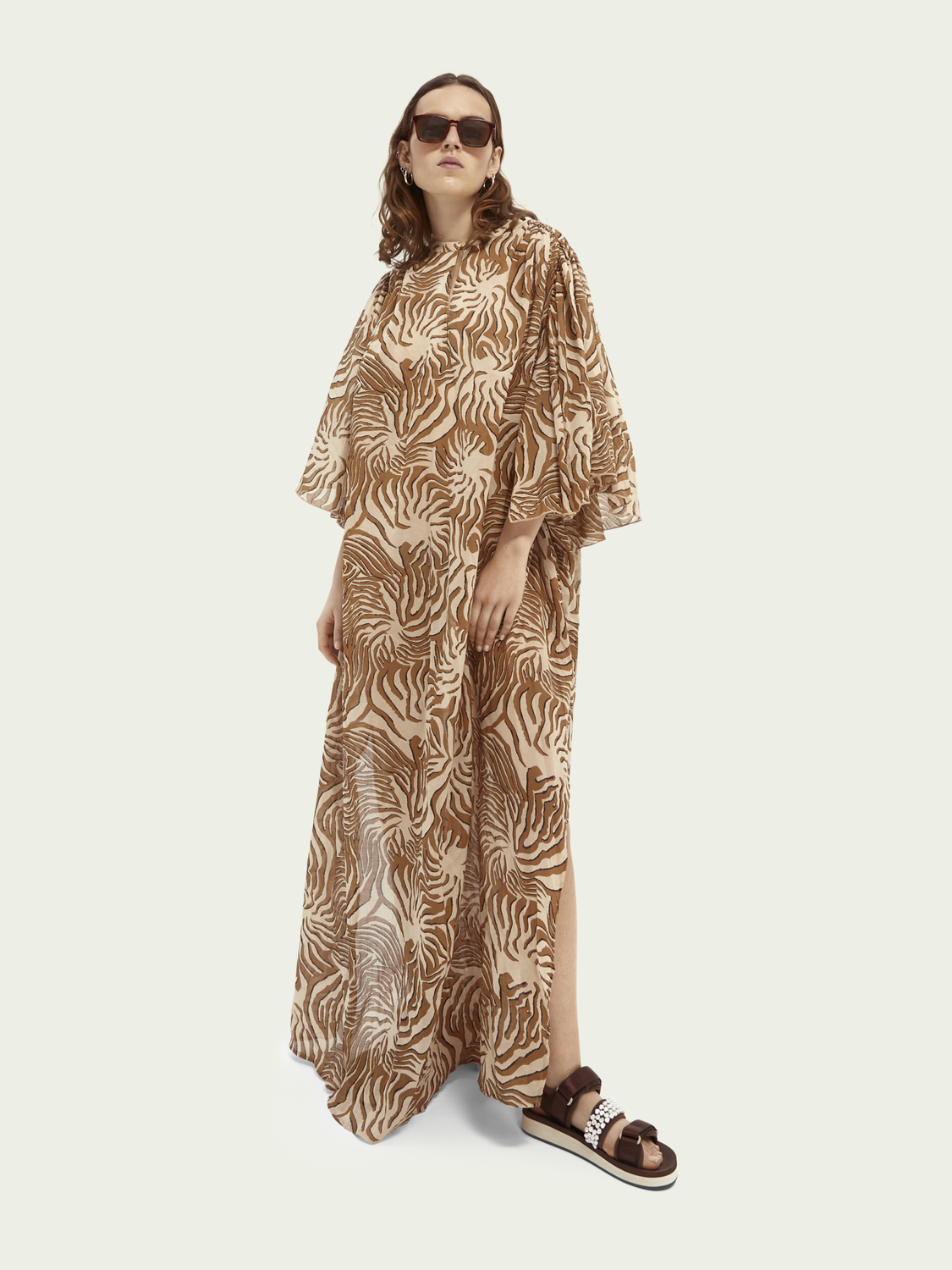 Women Printed organic cotton kaftan