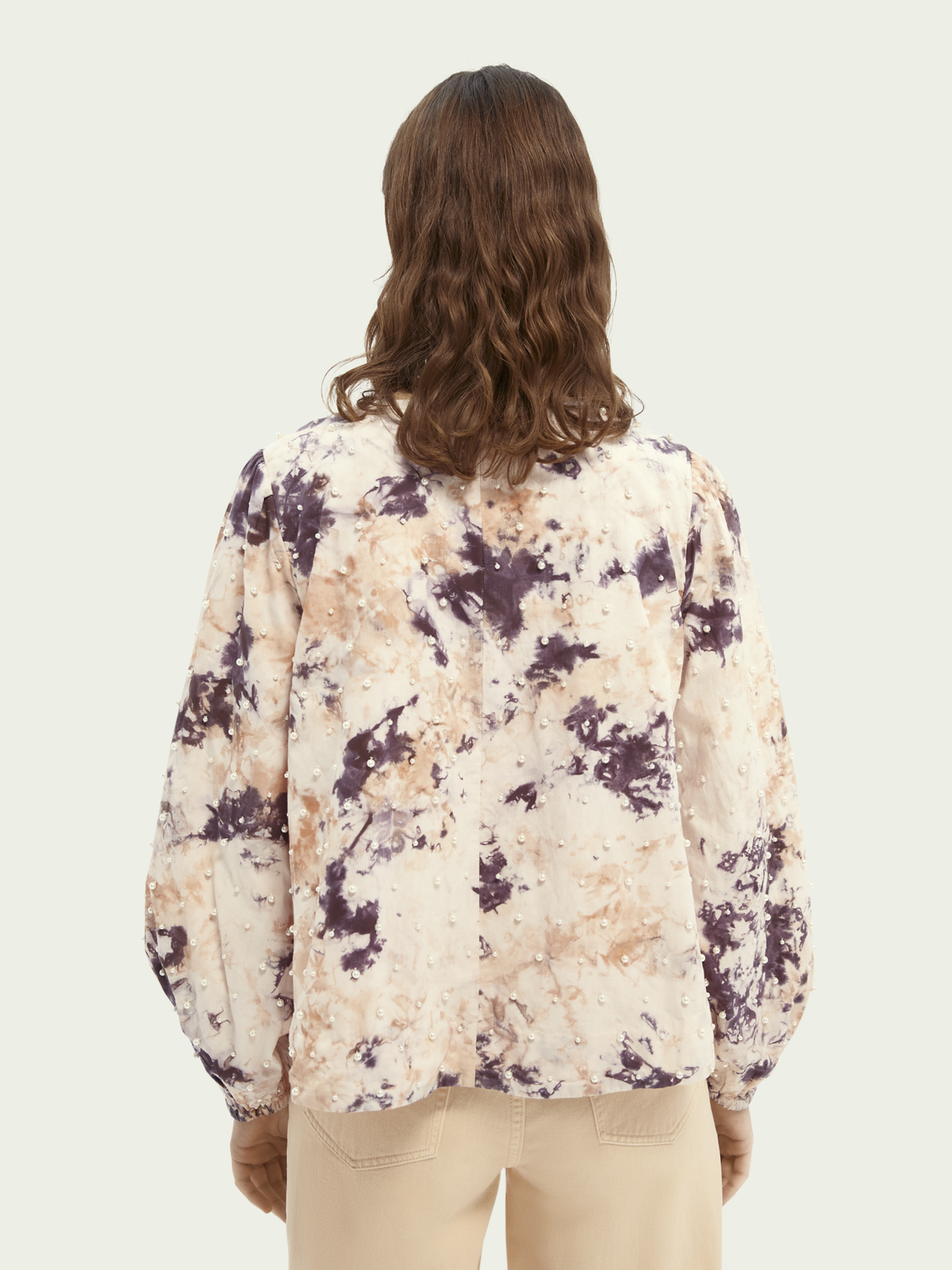 Women Embellished tie-dye organic cotton top