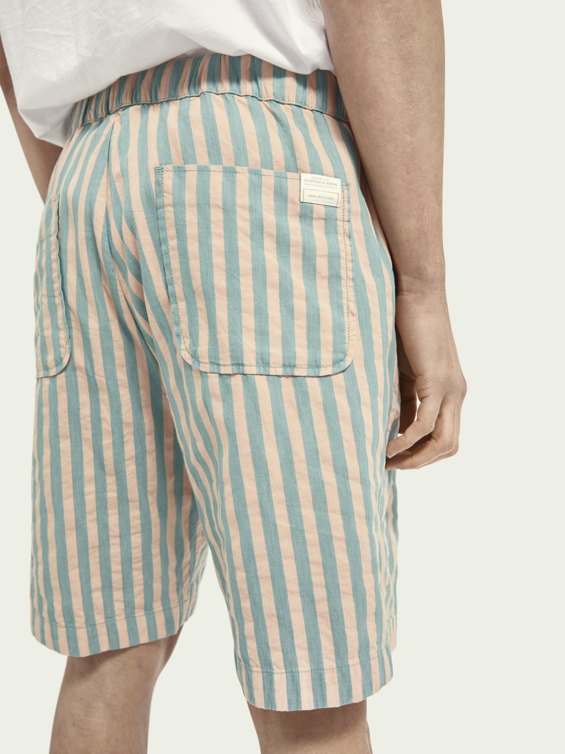 Men Fave striped cotton shorts