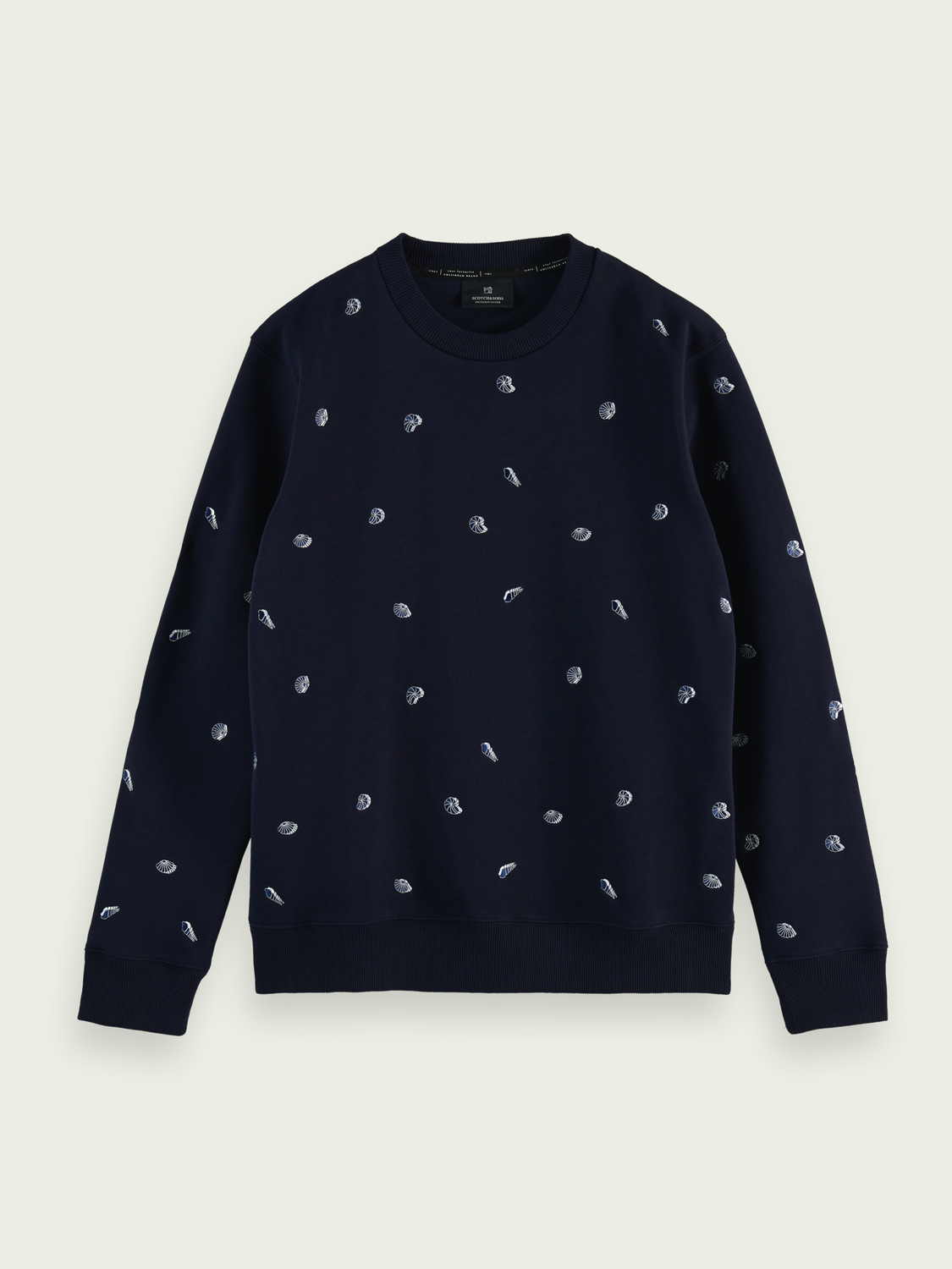 Men Embroidered crewneck sweater