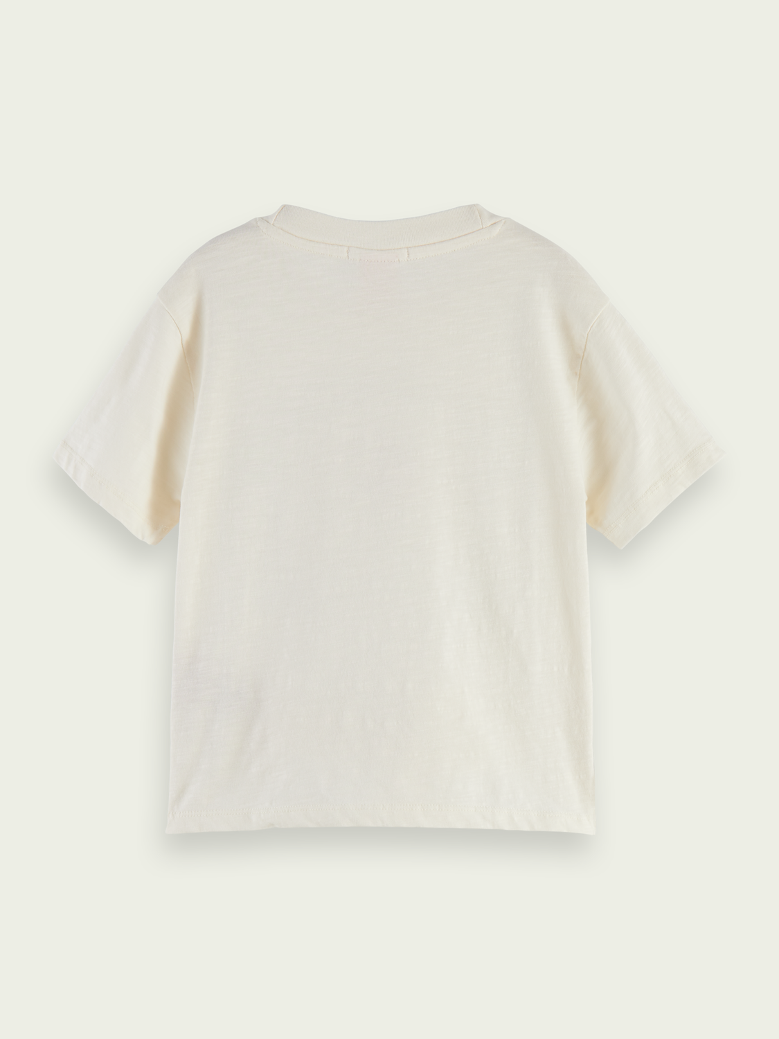 Kids Organic cotton embroidered T-shirt - Off White