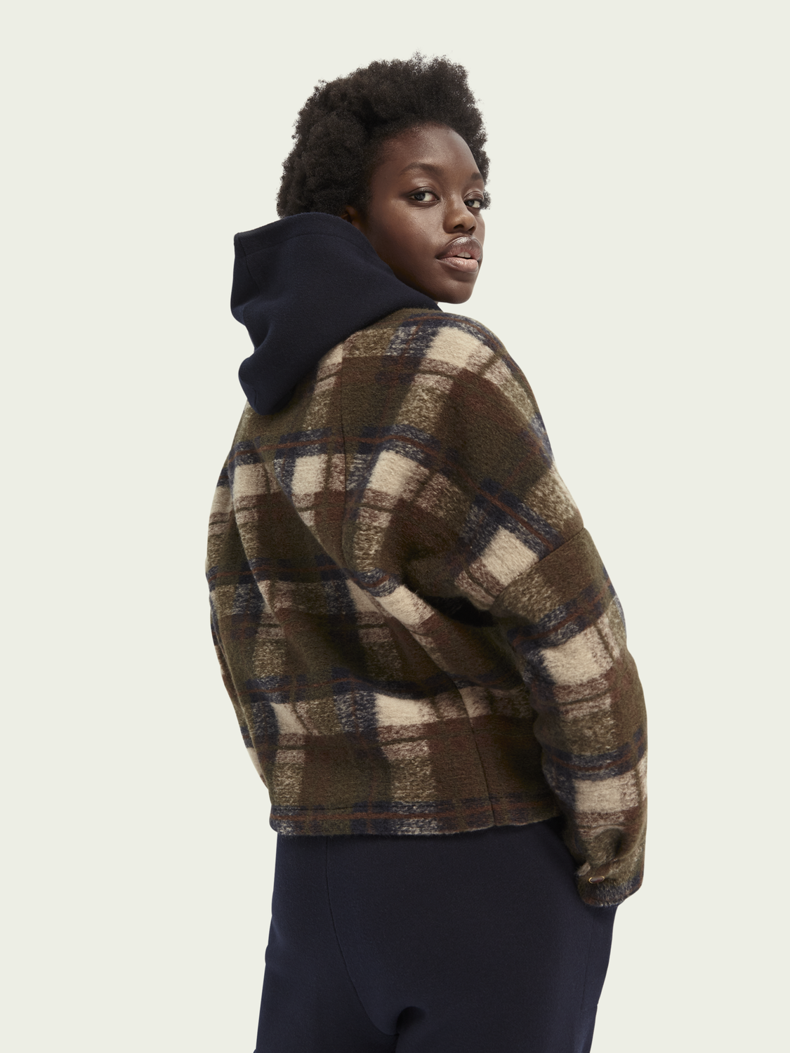 Women Checked wool-blend jacket