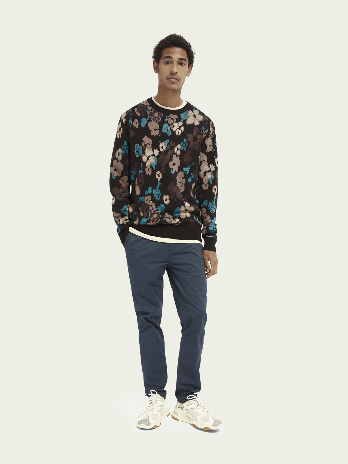 Men Wool-blend jacquard jumper