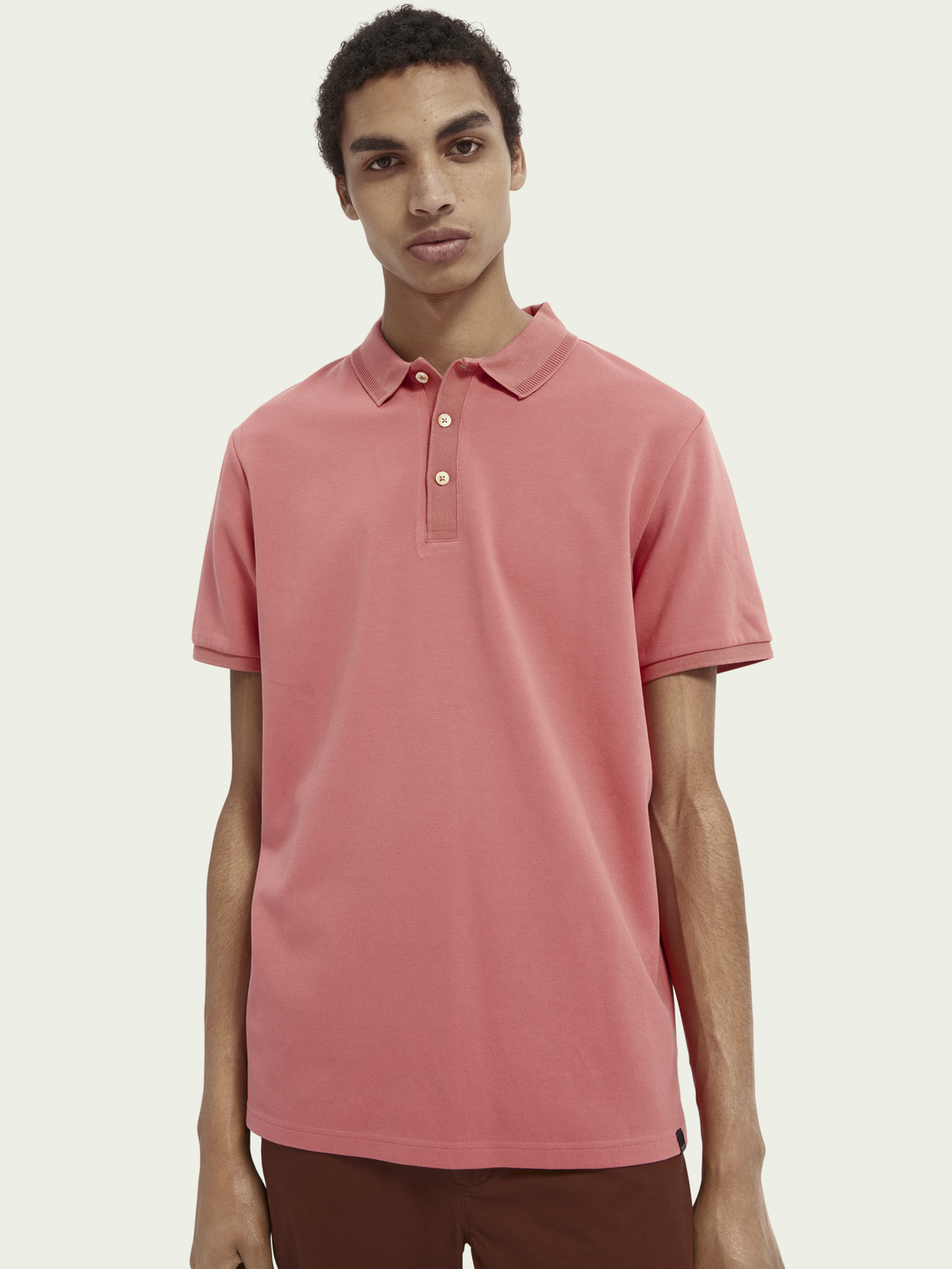 Men Cotton-blend twill polo shirt