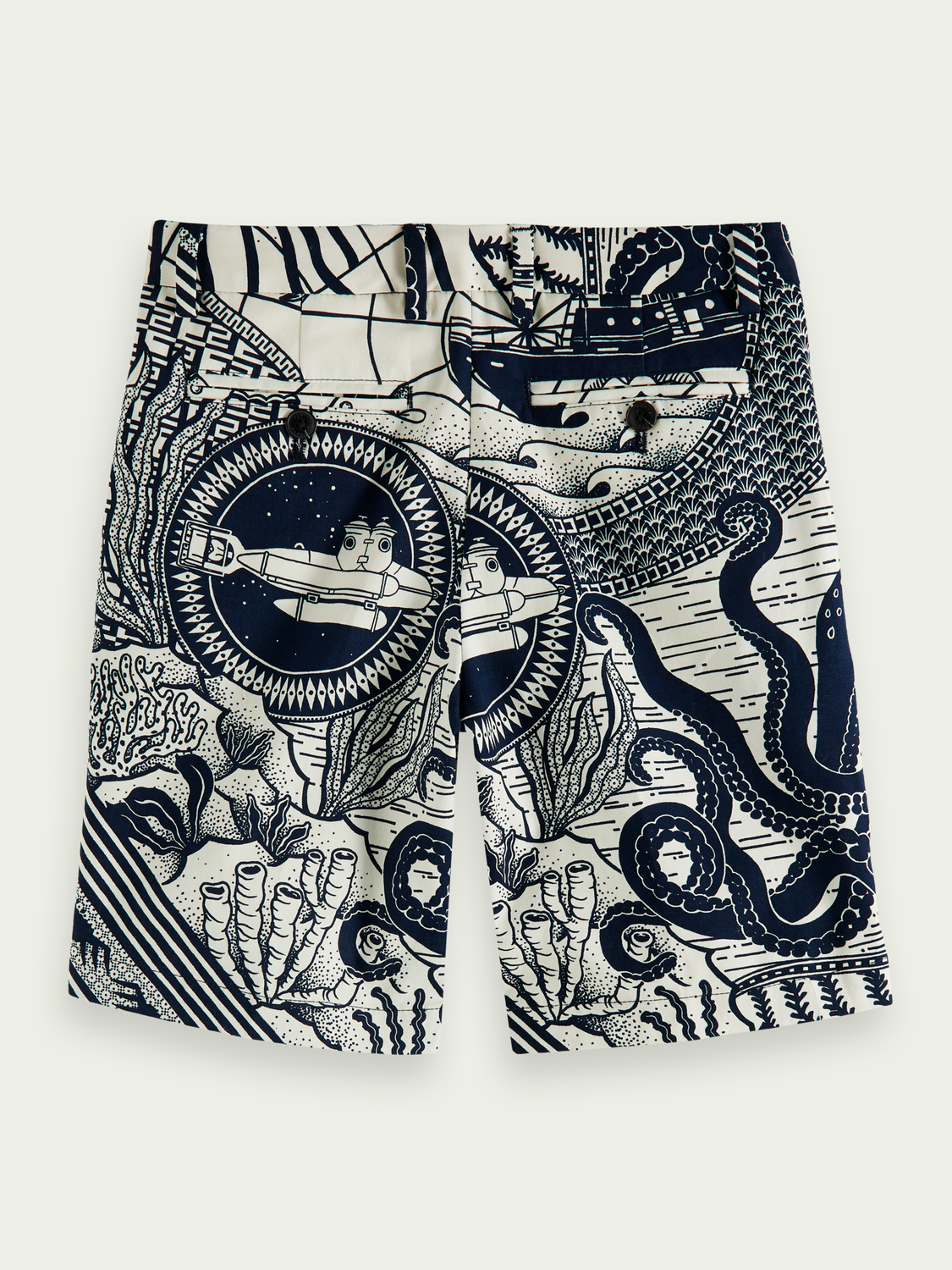 Kids Artwork print Bermuda shorts