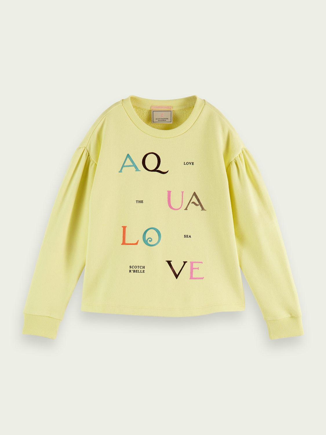 Kids Puff-sleeved organic cotton sweatshirt
