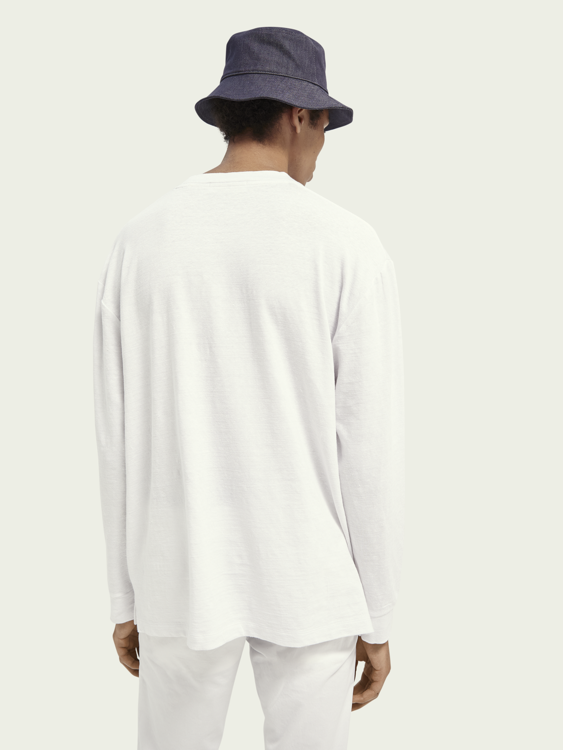 Uomo T-shirt relaxed fit in misto lino