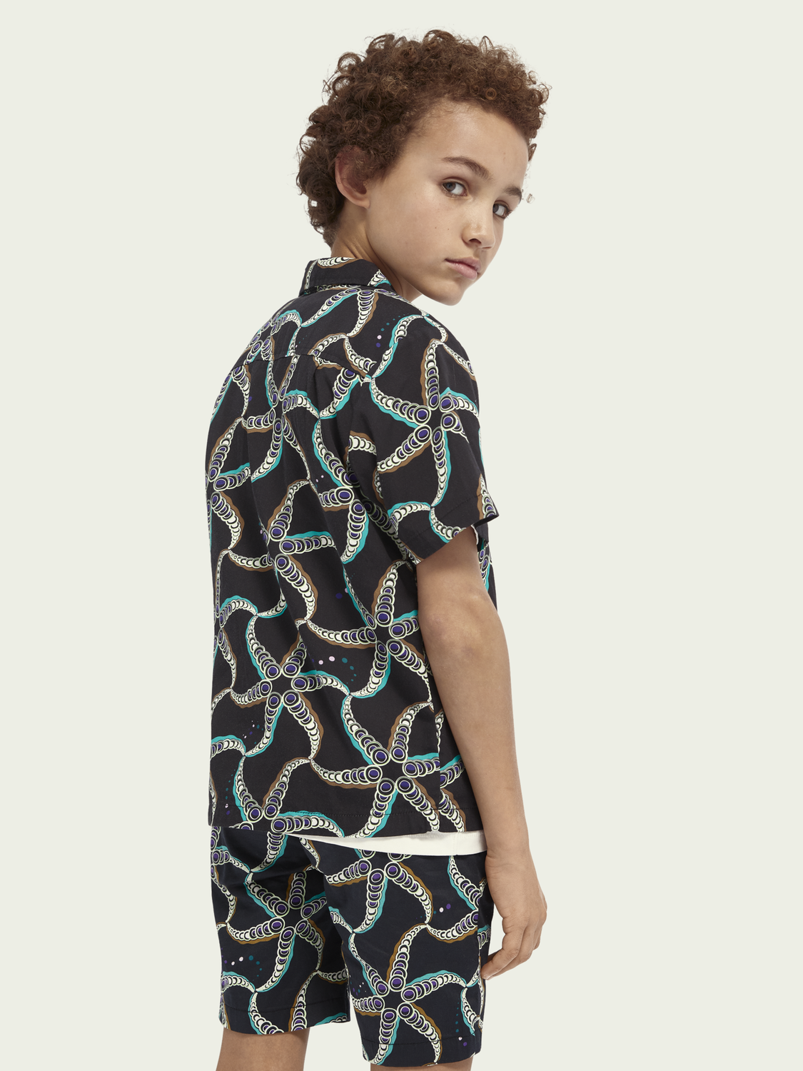 Kids Printed TENCEL™-blend short-sleeved shirt