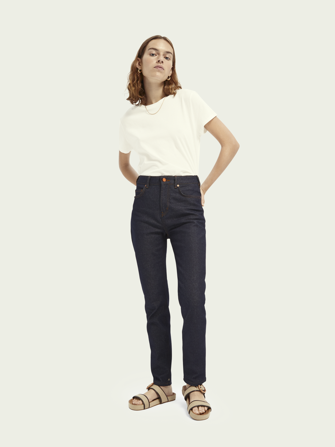 Damen High Five High-Rise Slim-Leg Jeans mit recycelter Baumwolle– Who Dares Wins