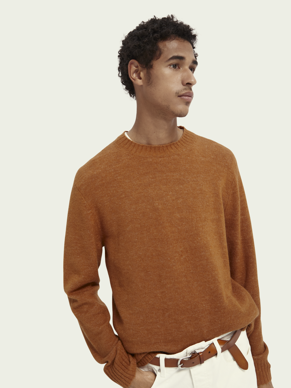 Men Alpaca-wool blend jumper