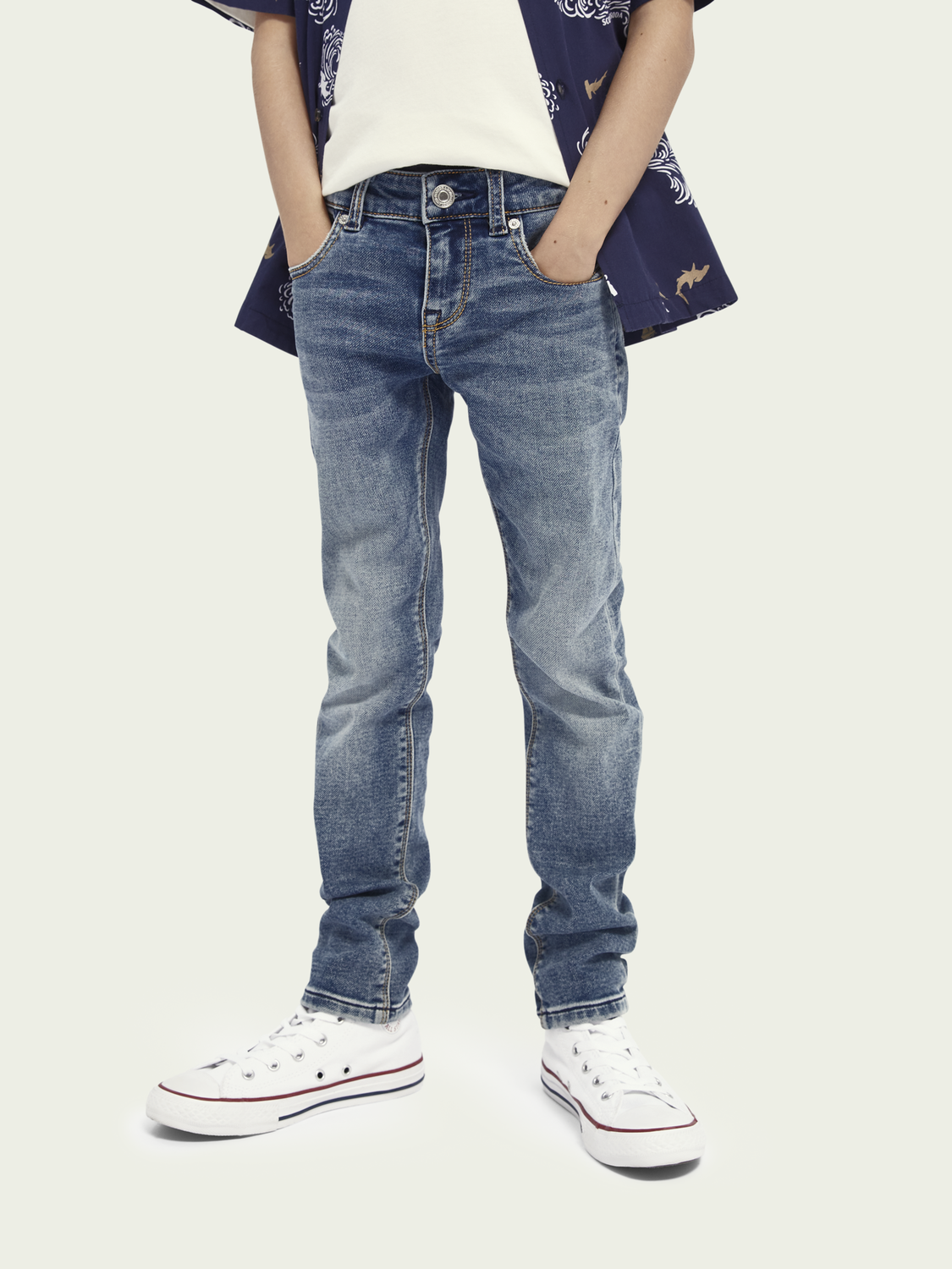 Bambini Tigger Jeans mid-rise super skinny – Weathered Blue Light