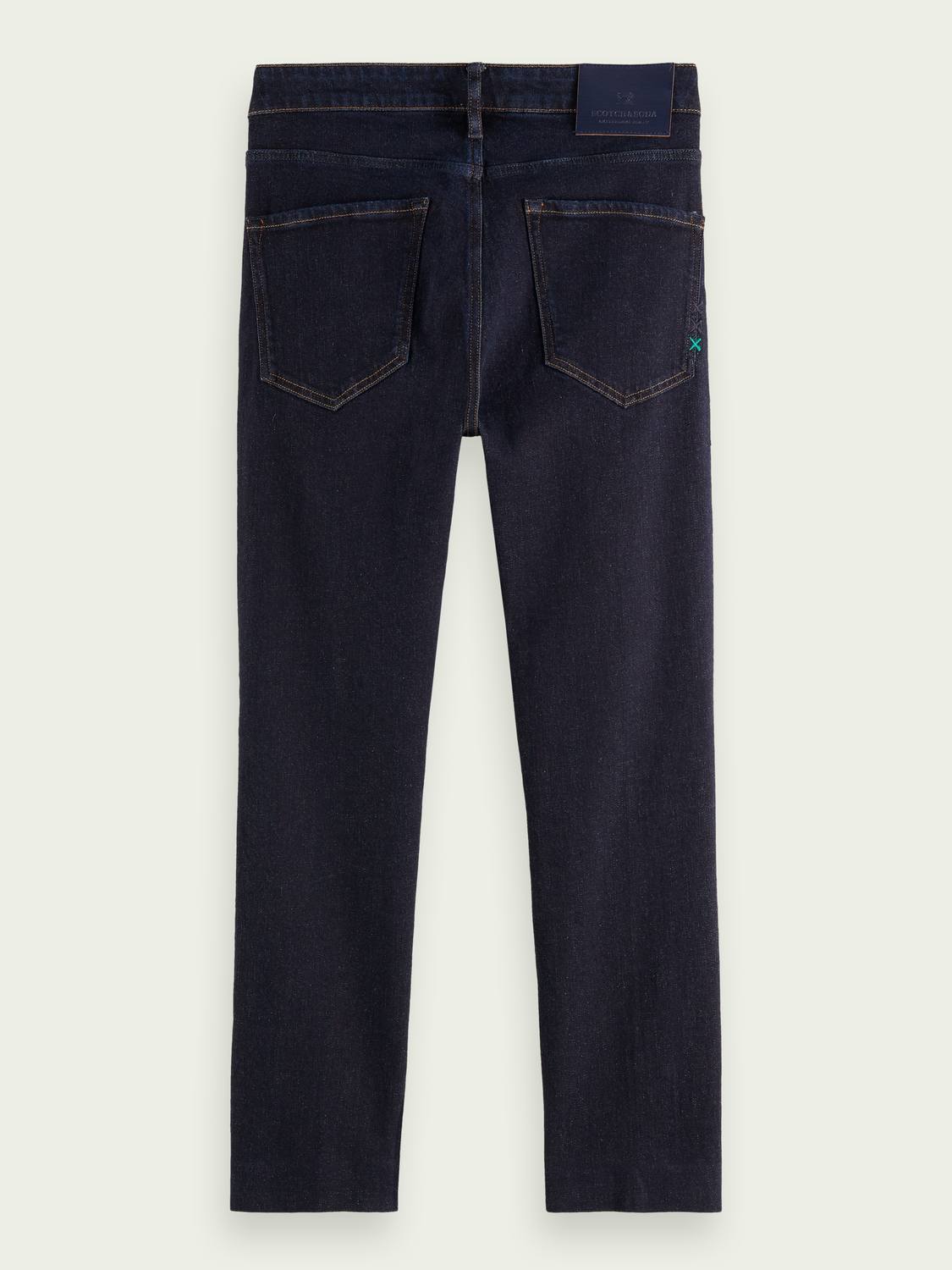 Men Skim Plus cropped super-slim fit recycled cotton jeans - Stay Dark