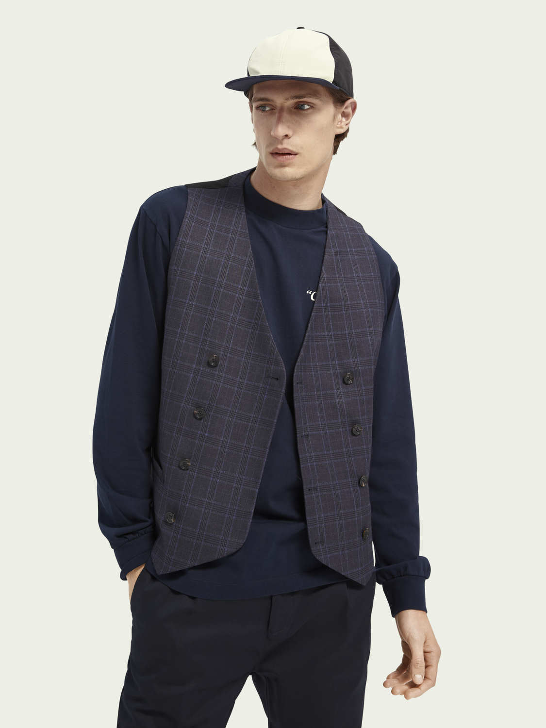 Men Double-breasted gilet