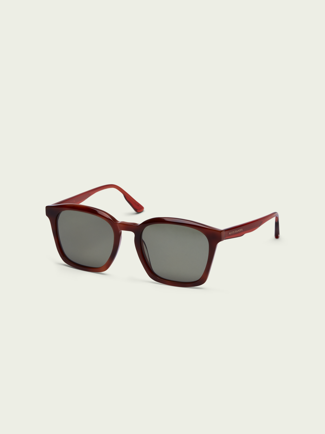 Men Clark - square-framed acetate sunglasses